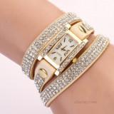 CEAS - DAMA, Luxurious Dial Rhinestone Weave Wrap Bracelet Wrist Stylish Watch 2