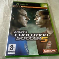 PES, Pro Evolution Soccer 5, xbox classic, original! - Jocuri Xbox, Sporturi, 3+, Multiplayer