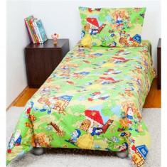 Lenjerie pat copii BebeDeco 1 Persoana-Alba Ca Zapada