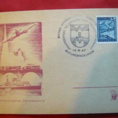 Carte Postala Speciala cu Stampila Expozitia Constr. in Telefonie si Telegrafie - Carte postala tematica, Necirculata, Printata