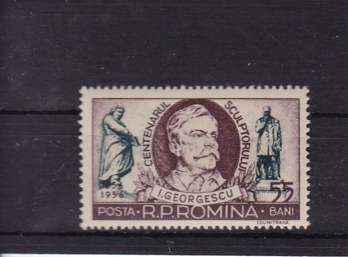 ROMANIA 1956   LP 412   CENTENARUL SCULPTORULUI  I. GEORGESCU    MNH
