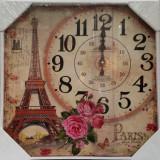 Ceas de perete din lemn Paris