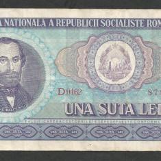ROMANIA 100 LEI 1966 [16] VF - Bancnota romaneasca