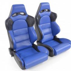 Set scaune auto sport albastru cu negru DP013 - SSA49057 - Scaune sport