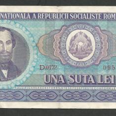ROMANIA 100 LEI 1966 [10] VF - Bancnota romaneasca