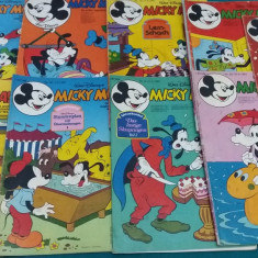 LOT 9 REVISTE MICKY MAUS*BENZI DESENATE LIMBA GERMANĂ/1981 - Reviste benzi desenate