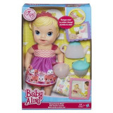 Jucarie Baby Alive Lil' Sips Baby Has A Tea Party Doll Blonde - Papusa