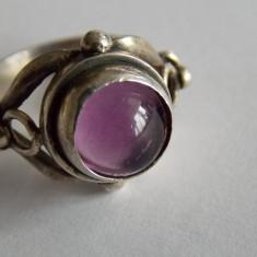 Inel de argint cu ametist vintage -947