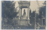 3739 - BUCURESTI, Royalty, Queen ELISABETH, Statue - old PC, real PHOTO - unused