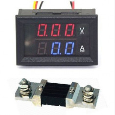 Voltmetru Ampermetru 0-300V 0-500A + Shunt 500A
