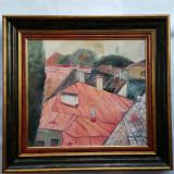 DAN HATMANU  - pictor ( artist ) iesean - tablou- Peisaj din Iasi - ulei / pînză