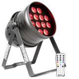 BEAMZ BPP220, reflector cu LED pereche, 64, 12 x 12 W, 4-în-1, cu LED-uri, inclusiv telecomandă - Masina de fum