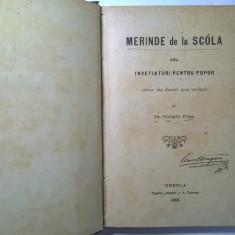 Giorgiu Popa - Merinde de la scola seu invetiaturi pentru popor {1888}