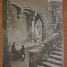 SIBIU Hermannstadt Nagyszeben Pempflingergasse - Pasajul scarilor circulata 1910, Fotografie