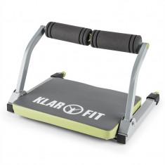 KLARFIT ABHATCH, gri / verde, aparat AB CORE, aparat penru abdomen, echipament de fitness versatil - Aparat pentru abdomen