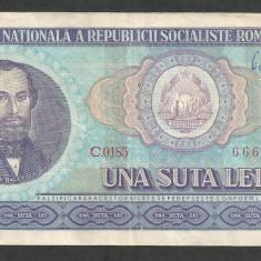 ROMANIA 100 LEI 1966 [17] - Bancnota romaneasca