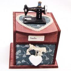 Cutie de bijuterii Masina de cusut - Bibelou vechi
