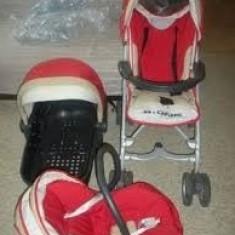 Carucior bebe copil Brevi B-One 3 in 1 landou scoica scaun auto - Carucior copii 3 in 1 Brevi, Rosu