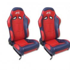 Set scaune auto sport rosu cu negru SCERSE113-114 - SSA49263 - Scaune sport