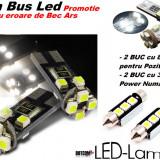 Set 2 leduri Pozitie 8 SMD + 2 leduri Numar 3 SMD - CanBus - Fara eroare bec ars - Promo - Led auto, Universal