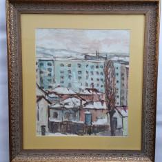VICTOR MIHAILESCU CRAIU - pictor iesean - Peisaj Iasi - guasa - anii 1960 - Pictor roman, Peisaje, Realism