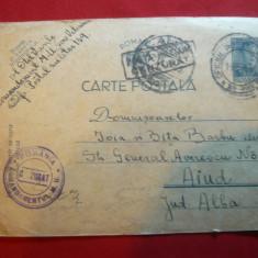Carte Postala Militara cenzurata, Of.Postal 183, stampila Comandament MU