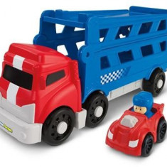 Jucarie Fisher Price Little People Wheelies Sports Car Carrier - Masinuta