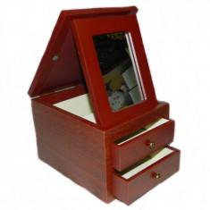 Dulap pentru bijuterii cu oglinda si rama foto - Cutie Bijuterii