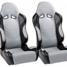 Set scaune auto sport gri cu negru SCERSE111-112 - SSA49044 - Scaune sport