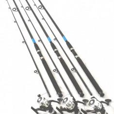 Set 3 lansete OXYGEN 2.7m actiune 60-120g cu 3 mulinete NBR 50 cu 5 rulm - Set pescuit