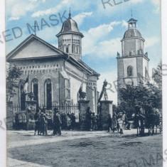 3733 - Bucovina, SUCEAVA, Church Sf. Dumitru - old postcard, CENSOR - used 1916 - Carte Postala Bucovina 1904-1918, Circulata, Printata