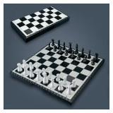 Sah magnetic cu table si dame 3 in 1