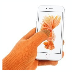 Manusi iarna Touchscreen Sensitive iGlove 3 Tip (atingere in 3 puncte) marime universala portocalii - Husa Telefon