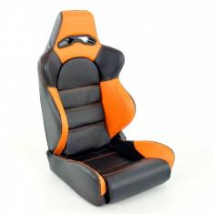 Scaun auto sport negru cu portocaliu DP003 - SAS49079 - Scaune sport