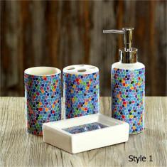 Set de baie Mozaic Colorat - Set mobilier baie