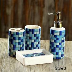 Set de baie Mozaic albastru - Set mobilier baie
