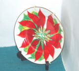 Cumpara ieftin Farfurie ceramica, pictata manual - Poinsettia - semnata D. Estevez Tenerife