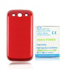 Baterie extinsa 4500mAh capac rosu special Samsung Galaxy S3 i9300, Li-ion
