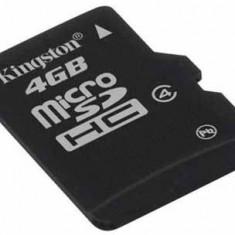 MicroSD 4GB clasa 4 + adaptor Kingston SDC4/4GB