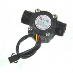 Debitmetru lichide 1-30 L/min senzor vana solenoid water flow cafea arduino