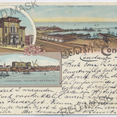 1978 - L i t h o, CONSTANTA - old postcard - used - 1898 - Carte Postala Dobrogea pana la 1904, Circulata, Printata