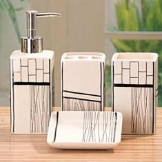 Set de baie Black & White - Set mobilier baie