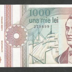 ROMANIA 1000 1.000 LEI 1991 a UNC [14] serie cu punct, aproape necirculata - Bancnota romaneasca
