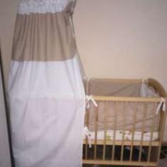 Patut lemn - Patut lemn pentru bebelusi MyKids, 120x60cm, Crem
