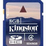 SD 8GB clasa 4 Kingston SD4/8GB