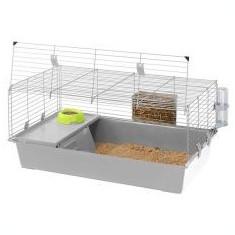 Cușcă pentru rozătoare RABBIT 100 - gri deschis - Cusca, cotet, tarc si colivie