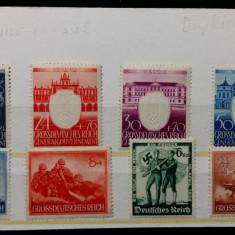 GERMANIA NAZISTA - ZVASTICA - WWII - LOT DE 8 TIMBRE