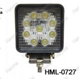 Proiector LED Auto Offroad 27W/12V-24V si 1980 Lumeni si Patrat si Flood Beam 60 Grade - XDR-1054999