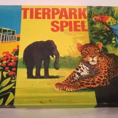 Joc vechi german vintage din 1975 Tierpark Spiel Animal Park Zoo - Joc board game