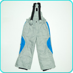 Pantaloni tip salopeta iarna, grosi, impermeabili, ALIVE _ copii | 5-6 ani | 116, Marime: Alta, Culoare: Gri, Baieti